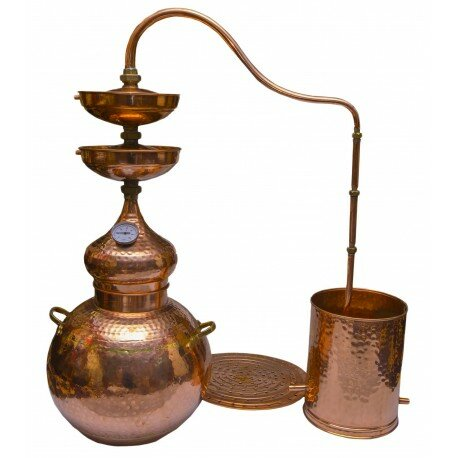 Double cleaning effect Copper Alembic 80L
